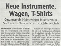 Zeitungsartikel Memminger Zeitung vom 06.12.2017