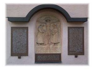 Denkmal an der Kirche Heimertingen