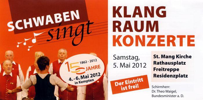 Klangraumkonzerte des Bayerischen-Schwäbischen Chorverbandes