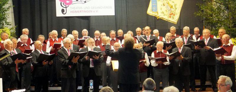 """Den Pilgerchor aus der Wagner-Oper """"Tannhäuser"""" singen der Allgäuer Bauernchor und die Männerstimmen des Gesangvereins."""