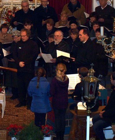 Unsere Solisten Johannes Striegel, Karl Friedrich Adam und Josef Emons.