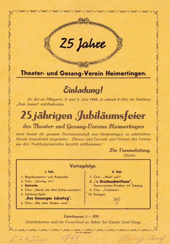 Plakat zum 25. Jubiläum - 1949