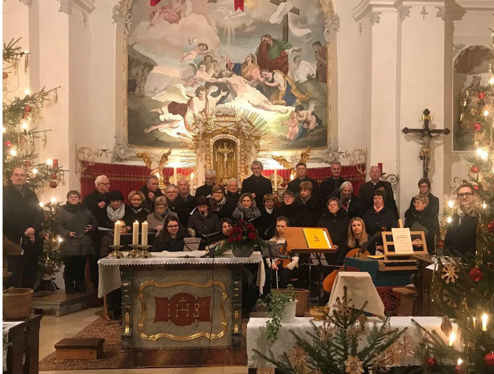 Der Gemischte Chor singt die Pastoralmesse von Karl Kempter
